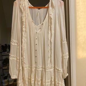 Free people dress with slip underneath
